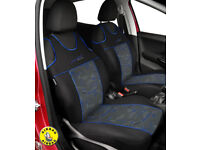 """2 ECO LEATHER FRONT SEAT COVERS forVW VOLKSWAGEN CADDY  /""""Vest shape/"""""""