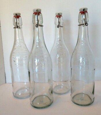 Vintage Limonade Aux Extraits Naturels De Citron France 4 Bottles w/ Locking Top
