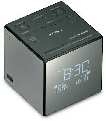 Sony XDRC1DBP Radio Clock Alarm DAB+/FM Tuner Black/Silver Best Gift Genuine New