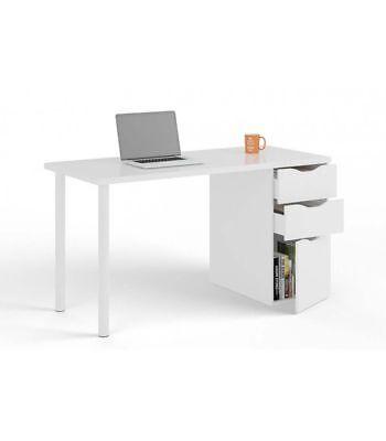 Mesa de despacho con cajoneras blanco / Mesa ordenador / Mesa oficina