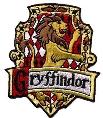 Harry Potter Gryffindor - Patch - Kostüm gestickter Aufnäher  zum aufbügeln