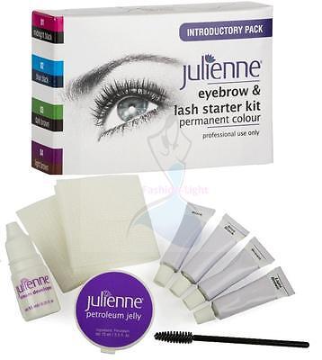Julienne Professional Intensive Eyelash & Eyebrow Dye Tint Lash Tinting Full Kit