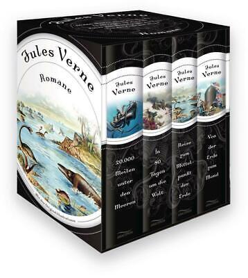 Romane Jules Verne Buch Vier Bände im Schuber Deutsch 2013