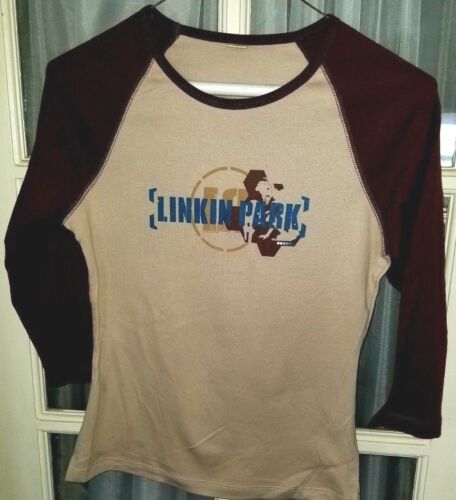 Linkin Park Raglan T-Shirt Junior / Womens girls size Large rock metal band