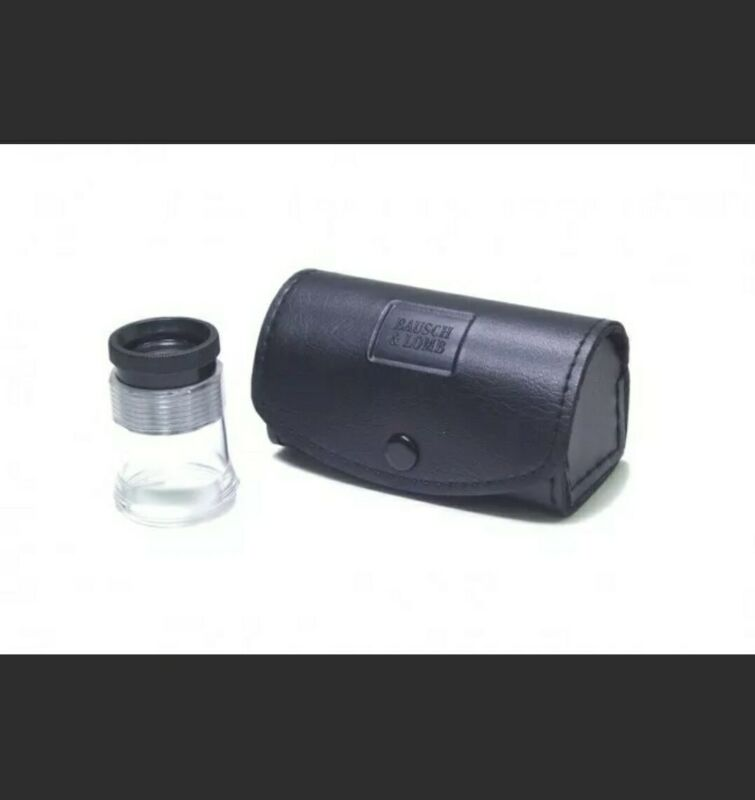 Bausch & Lomb Hastings Measuring Triplet Magnifier 7X Loupe Case Sight Savers