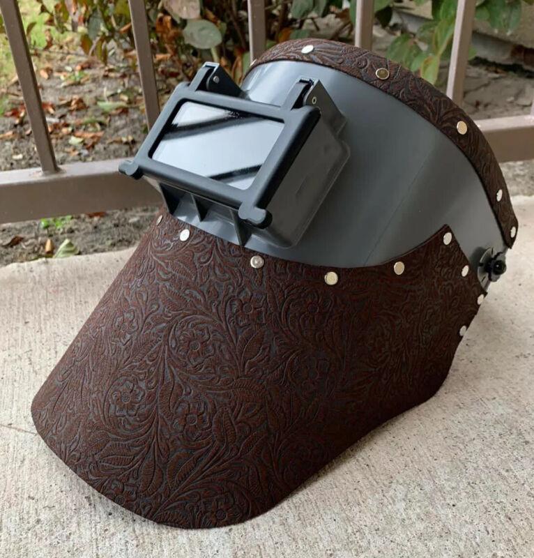 Tigerhood welding helmet floral leather