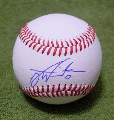 TYLER WHITE Signed/Autographed BASEBALL BALL Los Angeles Dodgers, Astros -