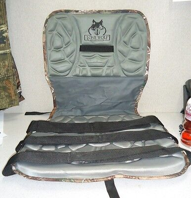 "1125 Lone Wolf Realtree AP Camo Replacement Seat 2 Panel 16"" Tall 17"" Wide"