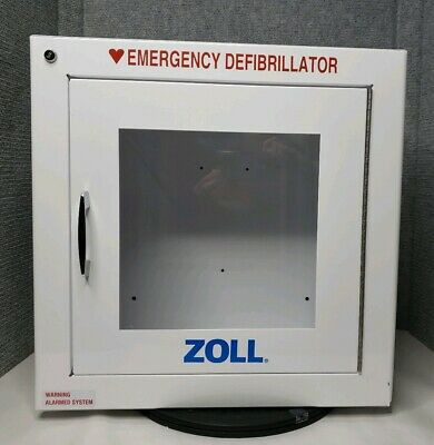 Zoll Alarmed System Steel Cabinet Emergency Defibrillator 17.5 X 17.5 X 9