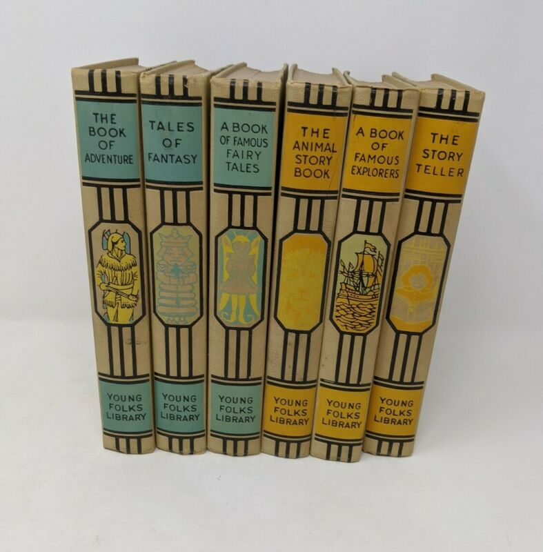 Lot of 6 YOUNG FOLKS LIBRARY Books 1950