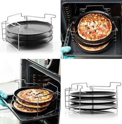 Bandeja metálica para Horno Pizza 6 Piezas ,Ø 32 cm, hasta 230ºC,...