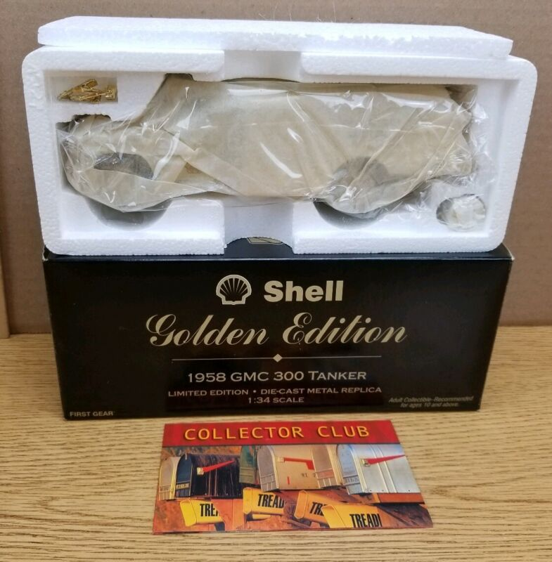 NIB NEW Shell Golden Edition 1958 Chevrolet Tanker Limited Edition First Gear