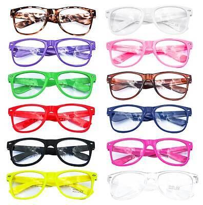 Nerd Brille Streber Hornbrille Vintage ohne Stärke Farbe wählbar