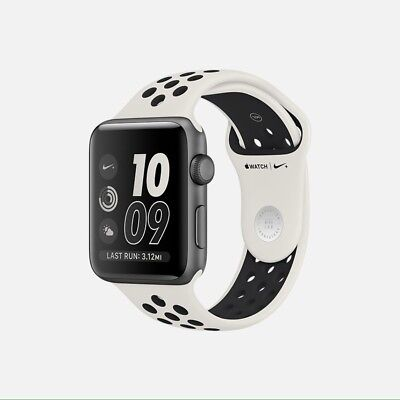 NikeLab Nike+ Apple Watch Series 2 38mm Aluminum Settle Bone/Jet NIB Sealed