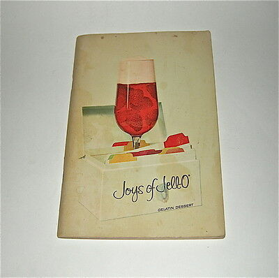 """Joys of Jello Gelatin Dessert"" recipes Pre-1963 4th ed 1st prtg + BONUS BOOK"