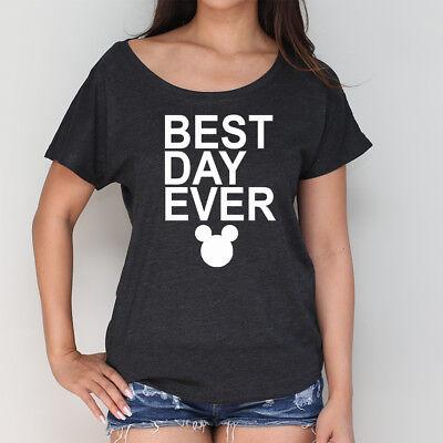 Best Day Ever Disney Mickey HeadTank Or Slouchy Tshirt. Disneyland Shirts.