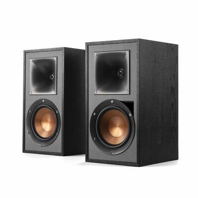 Klipsch R-51PM Powered Active Bookshelf Speakers, Bluetooth, Phono Stage- Black