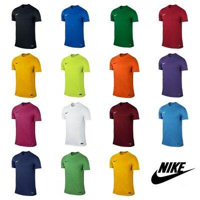 Nike Boys Football T Shirt Kids Top Sports Training Tee Gym Jersey XS S M L XL