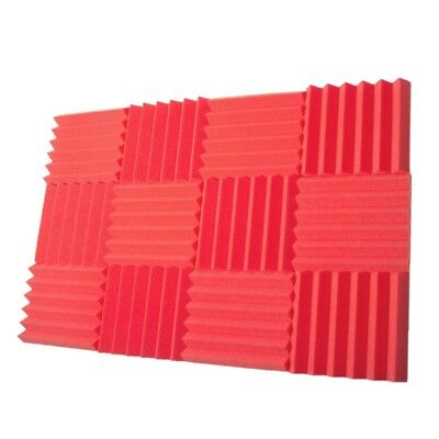 "12 pcs 2""x12""x12"" Premium Acoustic Foam Panel Tile Wall Record Studio Soundproof"