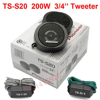 TS-S20 200W Pioneer High Power Car Loud 3/4'' Dome Tweeter Speaker Systems...