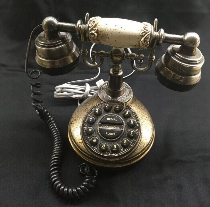Vintage Reproduction Antique Table Top Push Button Phone
