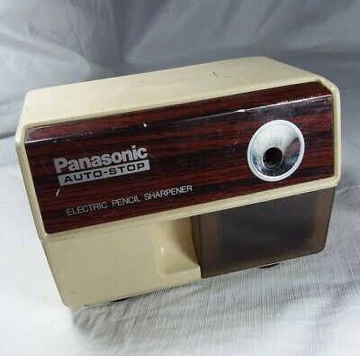 Vintage Panasonic Electric Pencil Sharpener Auto-stop 1980s Kp-110 Tested Works