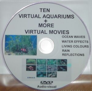 VIRTUAL FISH TANK AQUARIUM DVD WITH MARINE TROPICAL FISH 5 OTHER VIRTUAL MOVIES