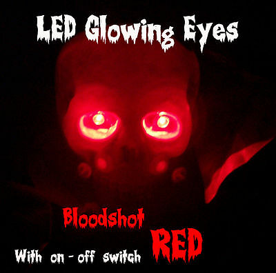 Led Glowing Eyes Halloween Red 5mm 9v Onoff Switch