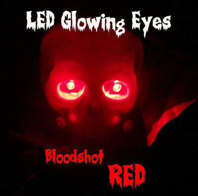6 PACK - LED GLOWING EYES HALLOWEEN 5MM 9 VOLT WIDE ANGLE - Red Eyes Halloween