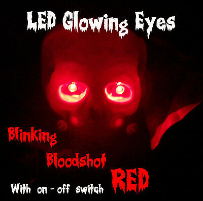 Led Glowing Eyes Halloween Blinking Red 5mm 9v Onoff Switch