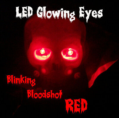 LED GLOWING EYES BLINKING HALLOWEEN RED 5MM 9 VOLT 9V blink - Red Eyes Halloween