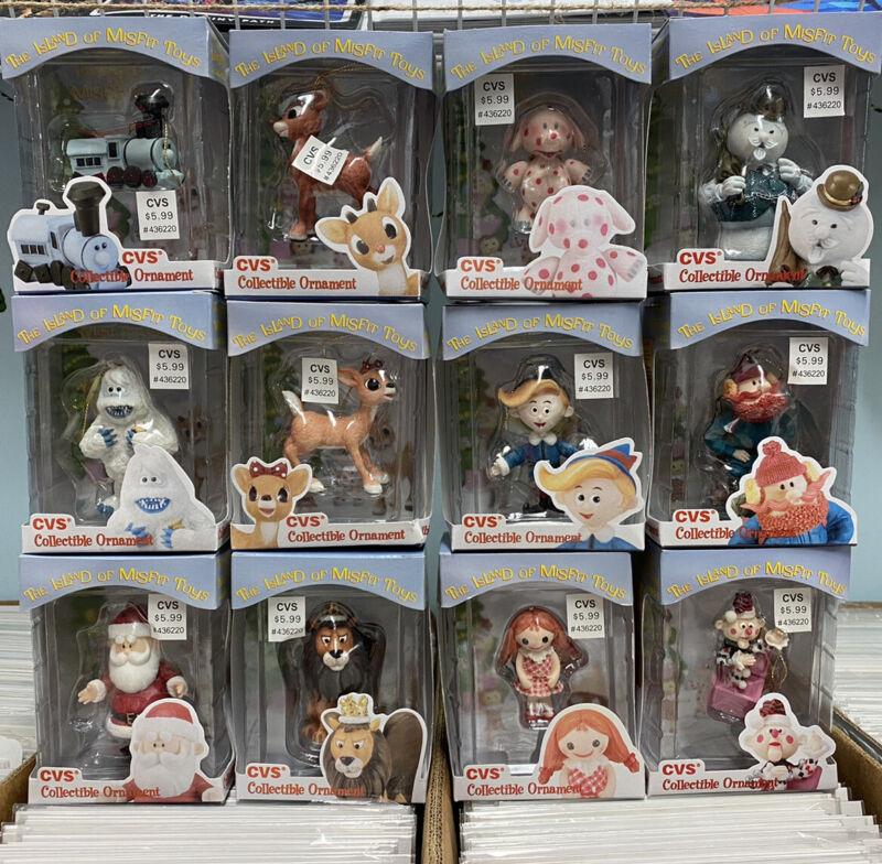 Complete Set CVS Enesco '99 Rudolph Red The Nose Reindeer Ornaments Misfit Toys