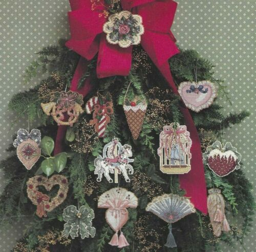 VICTORIAN CHRISTMAS TREASURES--14 Ornament Designs-Counted Cross Stitch Pattern