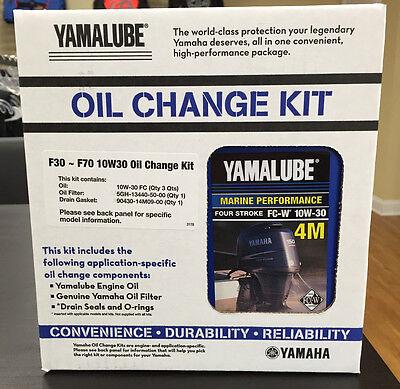 YAMAHA OEM F30-70 Outboard Oil Change Kit 3 Qt 10W30 4M Filter LUB-MRNSM-KT-10