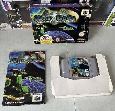 War Gods (Nintendo 64, 1997) N64 in scatola con manuale