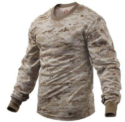 t-shirt camo desert digital camouflage long sleeve men various sizes rothco 5742
