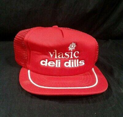 Vlasic Deli Dills Pickle Hat Red Snapback Trucker