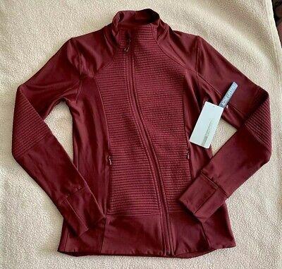 Mondetta Womens Athletic Sports Jacket Assymetric Zip Wine Burgundy S Small NWT ()