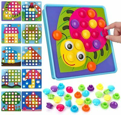 Art Toy Color Matching Mosaic Pegboard Early Learning Educational Game