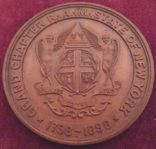 1898 Bronze Albany, NY Masonic Lodge Commemorative Medal
