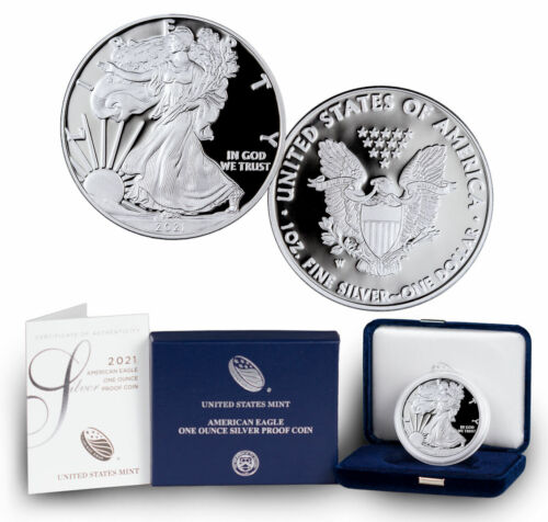2021-W Proof American Silver Eagle GEM Proof OGP
