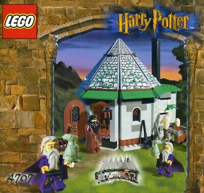 Harry Potter Lego Hagrid's Hut 4707 & Fly Lesson 4711 - Mint, Complete, Loose