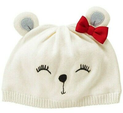 Gymboree nwt Girls Chirstmas Holiday Bear hat size 2t 3t