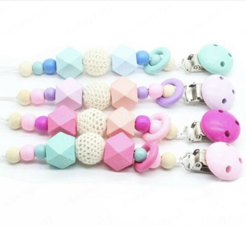 Round Silicone Teething Beads Baby Pacifier Chain Pacifier C