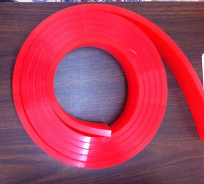6 Ftfeet Roll - 60 Duro Durometer - Silk Screen Printing Squeegee Blade Red