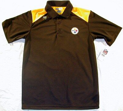 PITTSBURGH STEELERS NFL APPAREL GOLF COACHES POLO SHIRT MEN