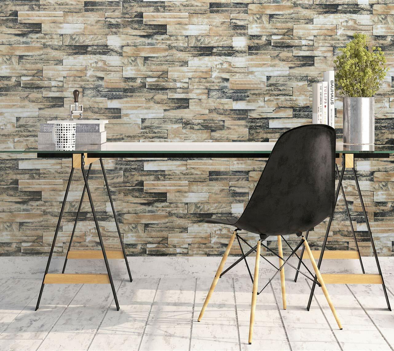 brick stone wallpaper stick and peel self