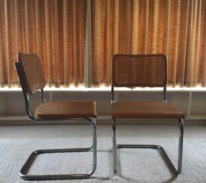 Sensational 1970S Vintage Rattan Cesca Style Chairs 70S Retro Download Free Architecture Designs Rallybritishbridgeorg