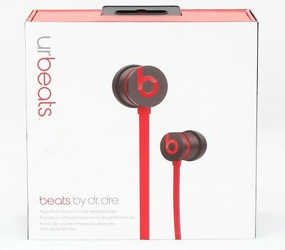 Beats by Dr. Dre UrBeats In Ear Headphones iPhone iPod Apple RED Unprincipled B0547 OB
