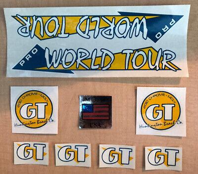 Chrome GT Old school bmx decal set 84-85 Pro world Tour